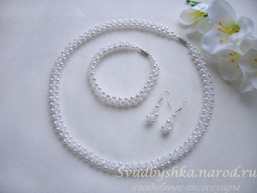 Свадебные украшения из бисера и бусин своими руками